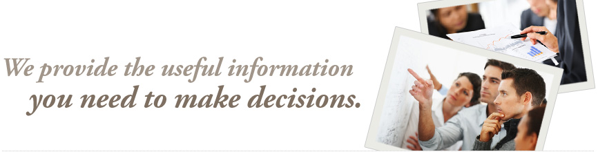 We provide the useful information you need to make decisions.